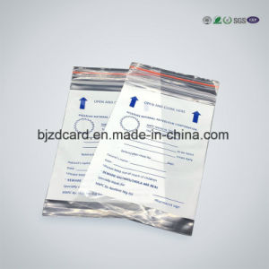 Transpartent Plastic Aluminum Foil Greenbelt Medical Zipper Bag pictures & photos