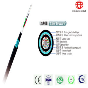 Outdoor Double Sheath 48 Core Armored Optical Fiber Cable pictures & photos