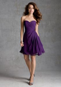 Chiffon Cheap Bridesmaid Fashion Dresses (FD14008) pictures & photos
