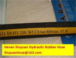 Double High Pressure Oil Rubber Hose Pipe Hydraulic Hose