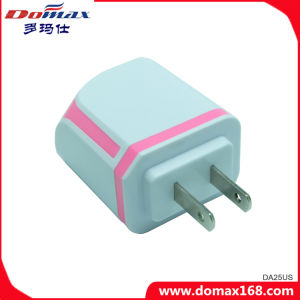 Mobile Phone 2 Dual USB Adapter Travel Wall Charger pictures & photos