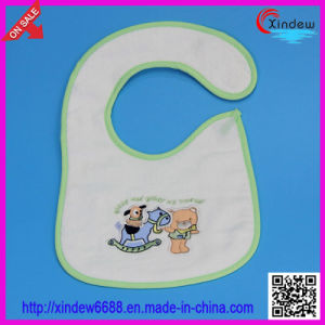2 Layer of Baby′s Embroidered Bib pictures & photos