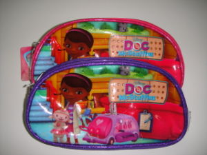 Polyester or PVC Doctor Juguete Girl Pencil Bag