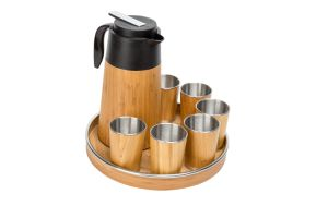 Bamboo Coffee Set W/ Staineless Cups pictures & photos