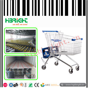 180L Zinc Supermarket Shopping Trolley Cart for Grocery pictures & photos