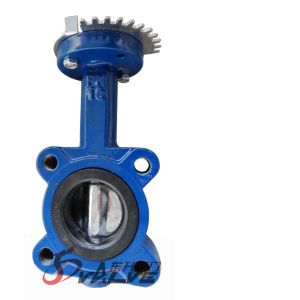 Center Disc Resilient Seat Rubber Lined Butterfly Valve pictures & photos