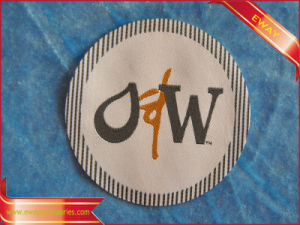 Round Woven Patch Clothing Fabric Woven Patch pictures & photos