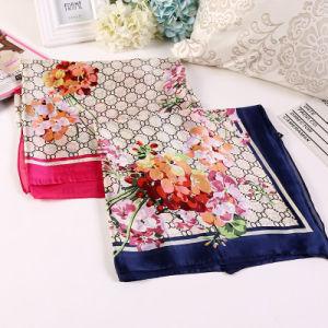 Fashion Printing Flower Chinese Silk Shawl Yiwu Scarf pictures & photos