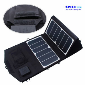 39W 18V/5V Dual Output Waterproof Outdoor Folding Solar Panel Charger for 12V Battery Charge pictures & photos