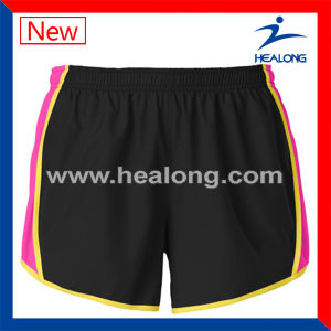 Healong Hot Sale Gym Wear Cut and Sew Plain Running Shorts pictures & photos