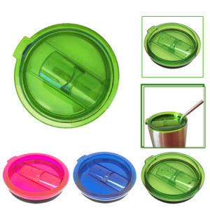 Spill and Splash Resistant Lid with Slider Closure for 30 Oz 26uy