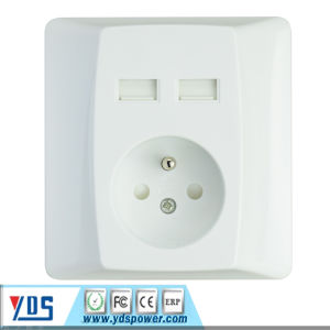 France Plug USB Wall Socket Hot Selling pictures & photos