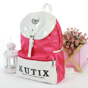 PU Leather Backpack for High School Students pictures & photos