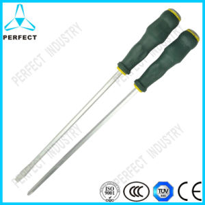Slotted and Philips Plastic Handle Screwdriver with Magnetic Head pictures & photos