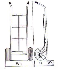 Portable Aluminium Alloy Hand Trolley pictures & photos