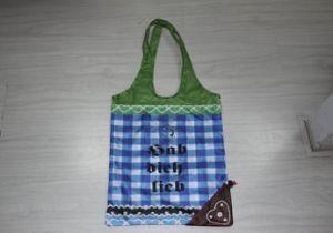 2014 Fashion Folding String Bag, Promotional Drawstring Bag, Gift Bag with Heart Shape