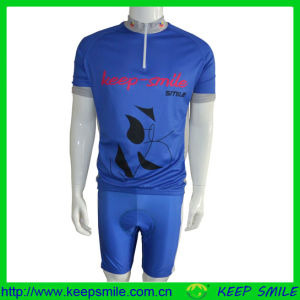 Customized Sublimation Printing Cycling Suit with Jersey and Bib Short pictures & photos