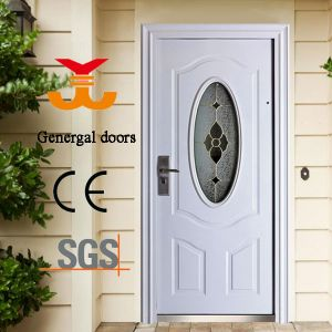 Entrance Steel Doors with Oval Glass pictures & photos