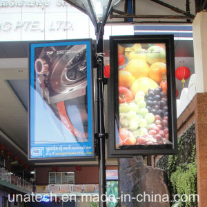 Street Pole Solar Ads LED Outdoor Aluminum Frame Fabric Signboard Light Box pictures & photos