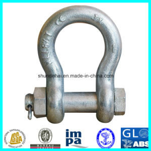 Us G2130 Forged Bolt Type Shackle with Certificate pictures & photos