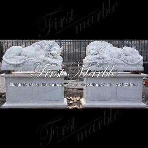 Metrix Carrara Marble Lion for Garden Decoration Ma-1000 pictures & photos