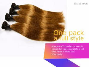 Brazilian Remy Straight Two Tone Color 100% Human Hair Weave pictures & photos