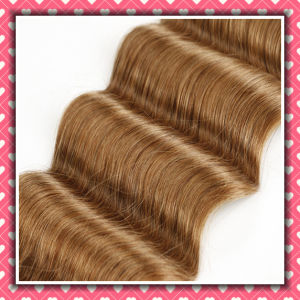 Wavy Peruvian Hair Weave Remy Hair Deep Wave 14inches pictures & photos