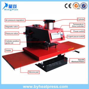 Semi-Automatic 15′x15′ Double Station Pneumatic T-Shirt Heat Transfer Printing Machine pictures & photos