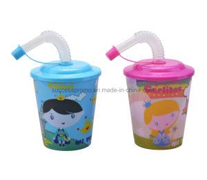 3D Plastic Stadium Tumbler Lenticular Cup with Lid & Straw pictures & photos