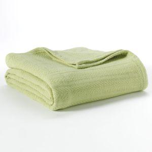 Cottton Celluar Thread Green Summer Bedspread Blanket