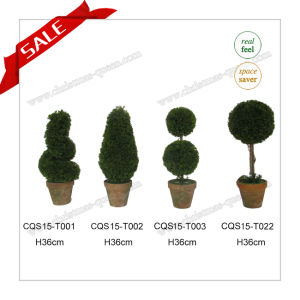 H36cm Indoor&Outdoor Plastic Artificial Plant Christmas Tree pictures & photos