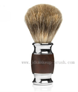 Badger Shaving Brush with Metal Base (JDK-SA064)