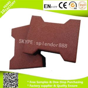 Dog Bone Shape Interlock Rubber Flooring Mats for Outdoor Children Playground Flooring Tiles pictures & photos