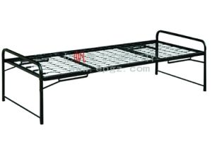 Single Metal Bed with Headboard for Hostel and Dormitory pictures & photos