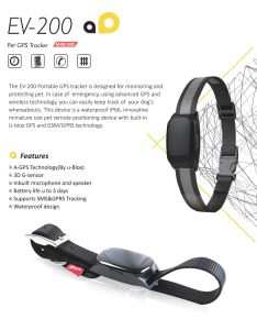 Hot Selling Fashion Pet GPS Tracker with Collar (EV-200) pictures & photos