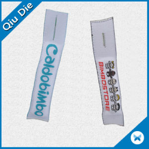 Filled Woven Label for Zipper Puller pictures & photos