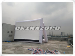 White Frame Triangle Shaped Inflatable Movie Screen pictures & photos