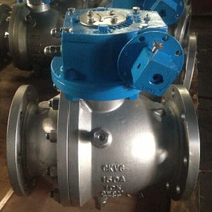 Casted Steel Two-Piece Trunnion Ball Valve