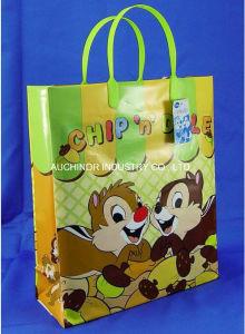 Custom Printed Heat Seal Rigid Snap Handle Plastic Bag pictures & photos