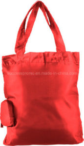 Promotional Polyester Foldable Shopping Bag with Customized Logo pictures & photos