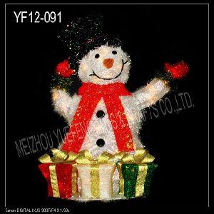 White Tinsel Snowman (YF12-091)