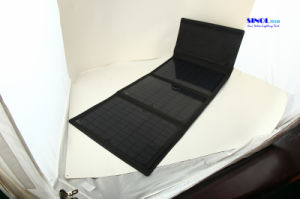 36W Foldable Design Solar Power Outdoor Charger with Dual Output DC and USB (FSC-36B) pictures & photos