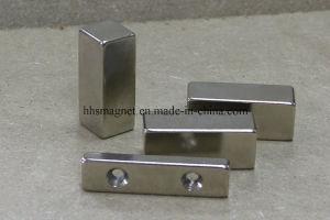 Powerful Neodymium Iron Boron Magnet Block with Countersunk pictures & photos