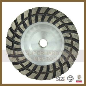 Diamond Double Single Row Cup Wheel for Stone Grinding pictures & photos