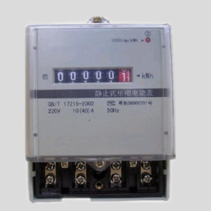 Plastic Base Single Phase Electronic Kwh Meter pictures & photos