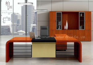 Unique Design Wooden Veneer Manager Executive Desk (HF-LTA179) pictures & photos