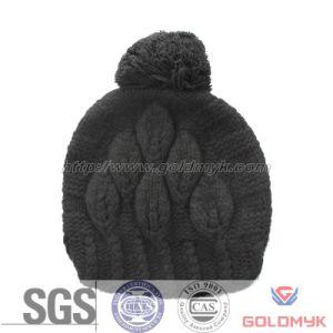 High Quality POM POM Cheap Custom Winter Beanie Hat (GKL-057) pictures & photos