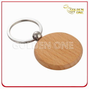 Promotion Good Quality Circle Shape Wooden Key Ring pictures & photos