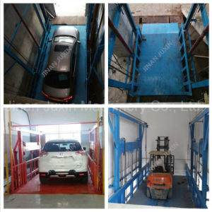 Vertical Hydraulic Guide Rail Lift Goods Loading Platform pictures & photos