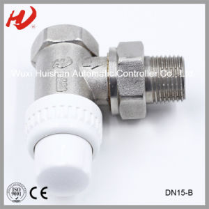 "1/2"" En215 Certified Thermostatic Radator Angle Valve pictures & photos"